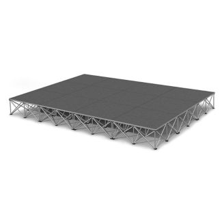 Rectangular Carpeted Stage Set - 12'W x 16'H, P60038
