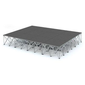 Rectangular Carpeted Stage Set - 12'W x 24'H, P60039