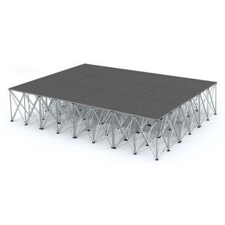 Rectangular Carpeted Stage Set - 12'W x 32'H, P60040
