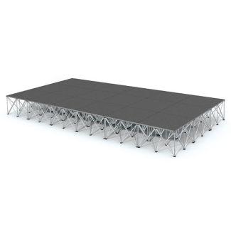 Rectangular Carpeted Stage Set - 12'W x 24'H, P60043