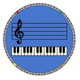 "Play Along Music Carpet 91""Dia, P30417"