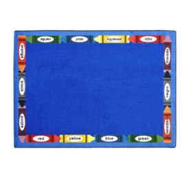 "Bilingual Colors Rectangle Rug 65"" x 92"", P40094"