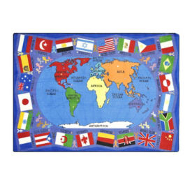 "Flags of the World Rectangle Rug 65"" x 92"", P40138"