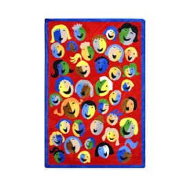 "Joyful Faces Rectangle Rug 65"" x 92"", P40151"