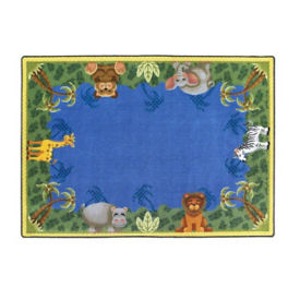 "Jungle Friend Rectangle Rug 129"" x 158"", P40166"