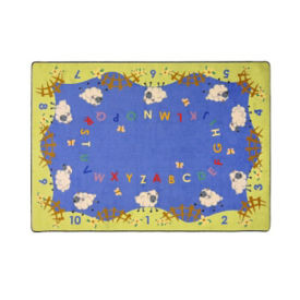 "Lamby Pie Rectangle Rug 129"" x 158"", P40175"