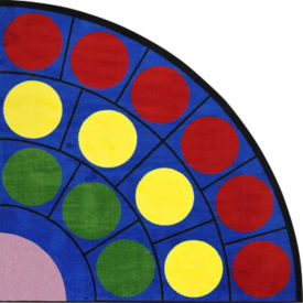 "Lots of Dots Radius Corner Rug 79"" Diameter, P40193"