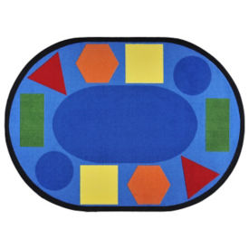 "Sitting Shapes Oval Rug 129"" x 158"", P40247"