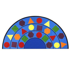 Sitting Shapes Half-Round Rug 79x158, P40248
