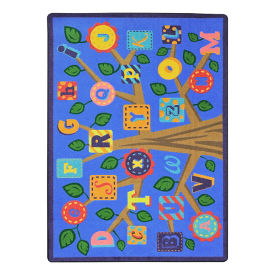 "Alphabet Leaves Rectangle Rug - 10'9"" x 7'8"", P30436"