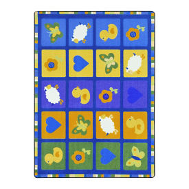 "Spring Things Rectangle Rug - 10'9"" x 7'8"", P30450"