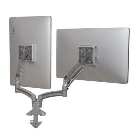 Kontour Reduced Height Double Monitor Desk Mount, E10282