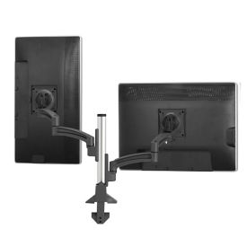 Double Monitor Desk Mount with Manual Height Adjustable Column , E10290