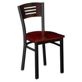 Metal Chair with Wood Seat-Back, D45188