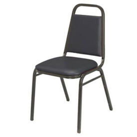 "Stack Chair with 1.5"" Thick Seat, D58121"