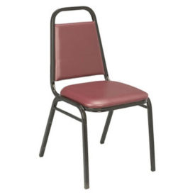 "Stack Chair with 1.5"" Thick Seat, D58123"