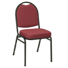 "Stack Chair 2"" Seat Black Frame, D58137"