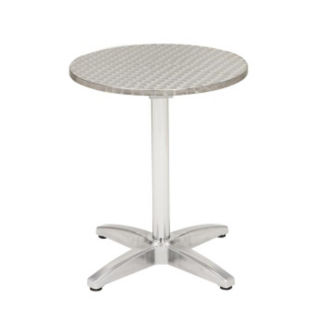 "Stainless Steel Outdoor Table - 32"" Round, F10134"
