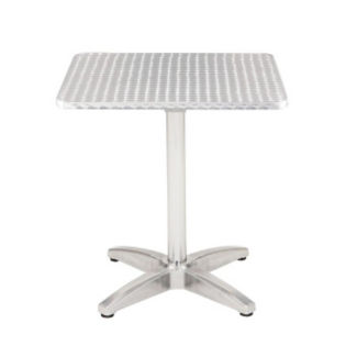 """Stainless Steel Outdoor Table - 32"""" Square, F10135"""