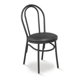 Contemporary Styled Cafe Chair with Metal Frame, K00010