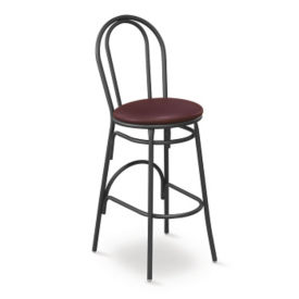 Contemporary Styled Bar Stool with Metal Frame, K00011