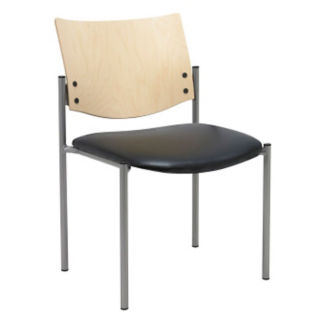 Standard Wood Back Armless Stack Chair, K10048