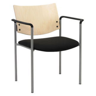 Oversized Wood Back Stack Chair with Arms, K10051