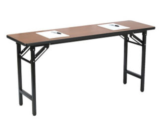 "TFD Series Medium Oak Training Table - 18"" x 72"", T11297"