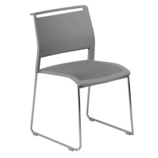 All-Purpose Stack Chair with Poly Back and Mesh Seat, C60199