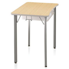 "Hard Plastic Top Desk - 25""H, J10103"