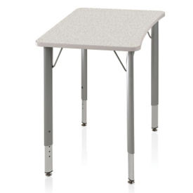 ADA Adjustable Height Hard Plastic Top Desk, J10111