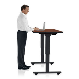 "Height Adjustable Mobile Table 48""W x 24""D, A11235"