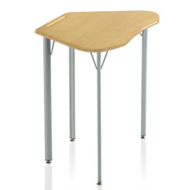 "Trapezoid Student Desk with Hard Plastic Top - 29""H, J10091"