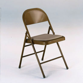 Metal Folding Chair with Fabric or Vinyl Seat, C57769