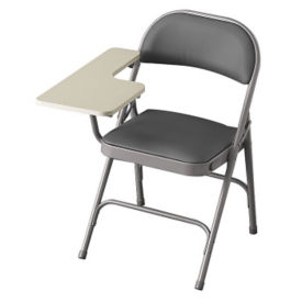 Folding Chair with Padded Seat & Back and Right Tablet Arm, C52018