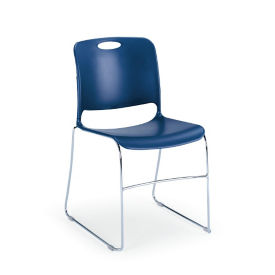 Polypropylene Stack Chair with Polycarbonate Glides, C60220
