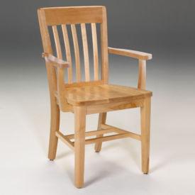 "Wood Armchair 18""H, C70432"