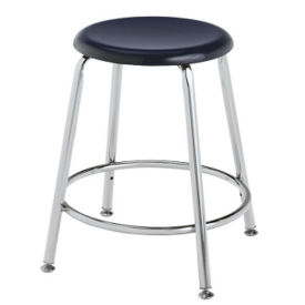 "Stool with Hard Plastic Seat - 18""H, C70487"