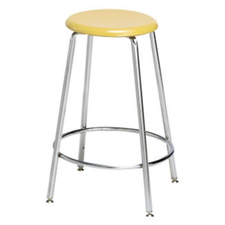 """Counter-Height Stool with Hard Plastic Seat - 24""""H, C70488"""