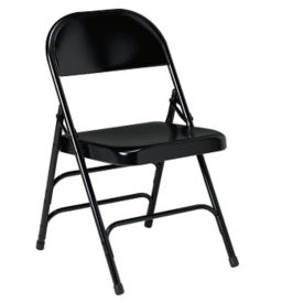 Steel Folding Chair with Triple U Brace, D51134