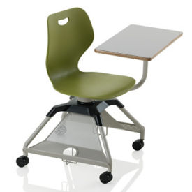Learn2 Mobile Chair Desk with Carpet Casters and Cup Holder, J10070