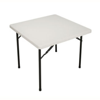 "Blow Molded Poly Folding Table 36"" Wide x 36"" Long, T11243"