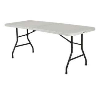 "Blow Molded Poly Bi-Folding Table 72"" x 30"", T11245"
