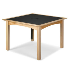 "Square Table 48"" x 48"" in Oak Finish, T11378"