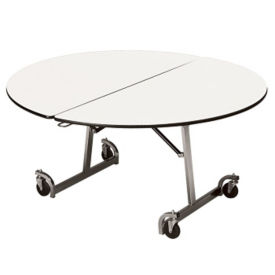 "Round Mobile Folding Table - 72""DIA, T11588"