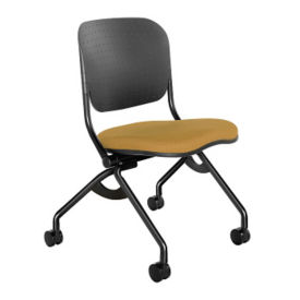 Torsion-on-the-Go Chair with Fabric Seat and Poly Back, C70341