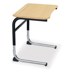 Adjustable Height Hard Plastic Cantilever Desk, D35051