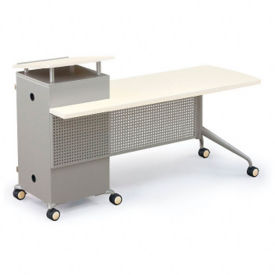 Mobile Instructors Desk with Left Lectern, J10016