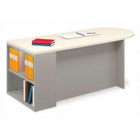 "72"" x 30"" Instructors Desk with Bookcase, J10027"