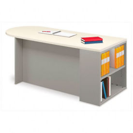 "66"" x 30"" Instructors Desk with Bookcase, J10028"